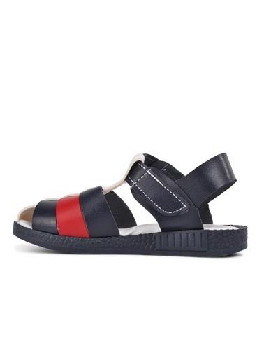 Şiringenç 210111 Lacivert-Kot-Beyaz Comfort Erkek Çocuk Sandalet Lacivert